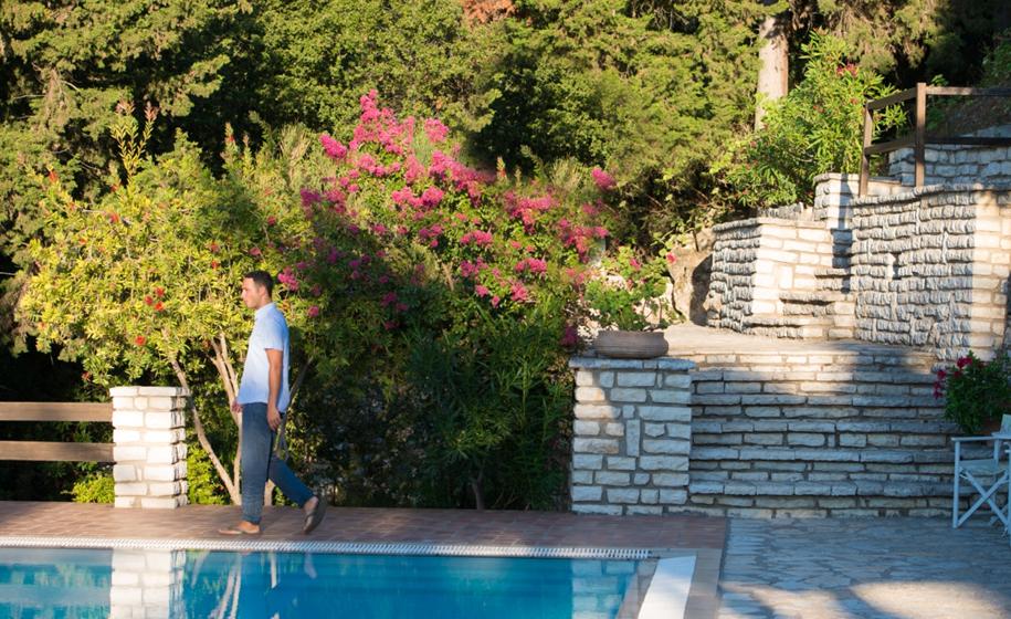 relaxin at pool agios nikitas lefkada island - view